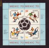 Romania L729a   CM de Fodbal-Mexico-70 colita dantelata
