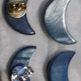 Cercei cu surub/fluturas/cheita semiluna sidef - Cercei Fashion