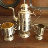 SET ANTIC CEAINIC - CAFETIERA- ARGINTAT- MARCAT - MANUFACTURA SUEDIA, Set ceai