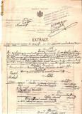 81 Document vechi fiscalizat-30martie1925-Extract Oficiul Starii Civile , oras Piatra, judetul Neamt -deces Michel Pascal,str.Kiselef Nr.8,S.Elisabeta