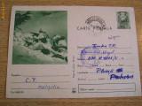 CPR - MILITARA - IMAGINE VANATORI DE MUNTE LA INSTRUCTIE, Circulata, Printata