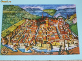 CETATEA BRASOV CU BISERICA NEAGRA SEC AL XVI- LEA