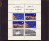 Romania L756a Luna 16-luna 17  bloc 4 dantelat  1971