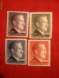 Serie Uzuale Hitler valori mari ,dant.12 1/2 Germania naz. ,4val.sarn.