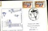 Plic special aerofilatelie - Cupa UTC la parasutism 1987, corespondenta parasutata