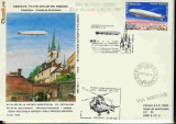 Plic special  aerofilatelie - Primul Zbor  aeropostal Sibiu - Medias cu IAR-330, Exp. Fil. Aeromfila 89