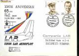 Plic special  aerofilatelie -  65 de ani de la primul zbor Chisinau - Bucuresti