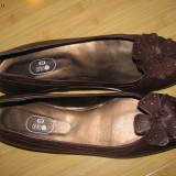 Pantofi dama - masura mare - Pantof dama, Coffee, Cu talpa joasa