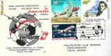 Plic aerofilatelie - Prima legatura aeropostala polara Bucuresti  Tokyo
