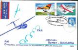 Plic  aerofilatelie - Zbor special Bucuresti - Sumen cu planorul, Concursul international de planorism al tarilor socialiste