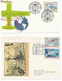 RFL 1980-1992 ROMANIA lot de 4 plicuri speciale cu tematica Aviatie