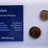 5.306 POLONIA SET 3 MONEDE UNC IN FOLDER 1G 2004, 2G 2003, 5G 2005, Europa
