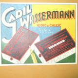 Carte Postala Reclama color Gadil Wassermann iodic si calcic fiole a 1-2 si 5 cmc 14 x 11 cm