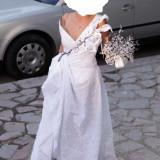 Rochie mireasa alb-negru, model unicat