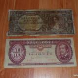 Lot 2 bancnote Ungaria 100 si 100000 forinti RAR