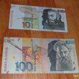Lot 2 bancnote Slovenia 10 si 100 tolarjev RAR