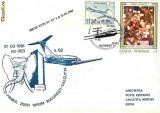 Plic  aerofilatelie -  Primul Zbor TAROM Bucuresti - Calcutta