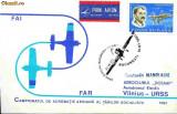 Plic aerofilatelie - Zbor special Bucuresti-Vilnius