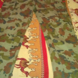 Pantaloni de armata si curea - Pantaloni barbati, L, Crem, Lungi, Bumbac
