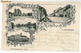 2163 - Litho, Alba, SEBES ALBA - old postcard - used - 1904, Circulata, Printata