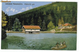 1661 - Maramures, VISEUL de SUS, boat on the lake - old postcard - used - 1926