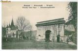 1669 - BRASOV, punctul de vama - old postcard - used - 1916, Circulata, Printata