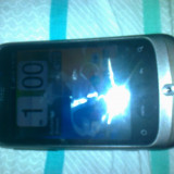 HTC Wildfire Impecabil cu Folie si Husa - Telefon mobil HTC Wildfire, Gri, Vodafone