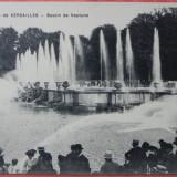 carte postala veche franta - VERSAILLES - BASSIN DE NEPTUNE, 1910