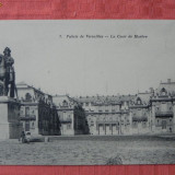 carte postala veche Palais de Versailles - La Cour de Marbre, 1911. necirculata