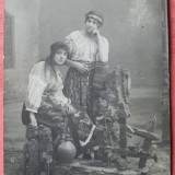 Foto studio. PORT POPULAR 1914, ATELIER N BUZDUGAN - Carte Postala Romania 1904-1918