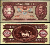 UNGARIA BANCNOTA DE 100 FORINT 1962 PERFECT UNC