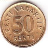 ESTONIA 50 SENTI 1992