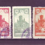 1918 Polonia Mi.7-9 stampilate