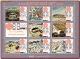 YAR Yemen 1970 - Olimpiada Sapporo, sport, harti, minicoala dantelata + vignete, Nestampilat