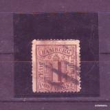 1859 Germania Hamburg Mi. 2 stampilat