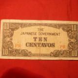 Bancnota 10 Centavos FILIPINE, Ocupatie Japoneza, 1942 - bancnota asia