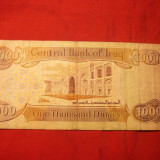 Bancnota 1000 Dinari IRAK, cal.medie - bancnota asia