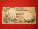 Bancnota 200 Pesos de aur 1992 COLUMBIA , cal.medie