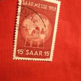 Serie- Targul de la Saarbrucken 1952, SAAR, 1val.stamp.