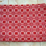 Covor din lana tesut manual 256 x 75 cm - Covor vechi