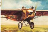 Carte postala ilustrata AVIATIE -  Avioanul monoplan Roma a lui Lampich Arpad (1930)