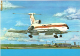 Carte postala ilustrata AVIATIE -  Tupolev TU-154, intreg postal