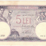 * Bancnota 5 lei 1928 - Bancnota romaneasca