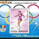 Romania - 1992 - LP 1275 - J.O. de Iarna Albertville - colita dantelata - Timbre Romania