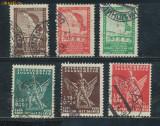 RFL 1934 Jugoslavia set 6 timbre Cercetasi - Sokols stampilate, 60 euro Michel