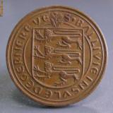 Inel cu moneda britanica din bronz