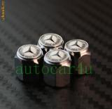 Capacele ventil auto pentru MERCEDES cu antifurt  clasa A B C E G inox
