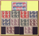 Romania 1946 - OSP + Posta Aeriana, LP 199 blocuri de 4 timbre MNH