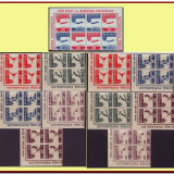 Romania 1946 - OSP + Posta Aeriana, LP 199 blocuri de 4 timbre MNH, Sport, Nestampilat