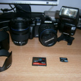Olympus E-520, Double Zoom Kit + Flash + Bonus, pret revizuit